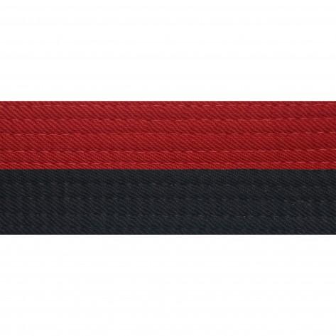 "Half Red With Half Black 2"" Deluxe Poom"