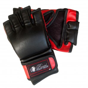 Black/Red Artificial Leather Fight Gloves