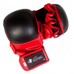 Black/Red Artificial Leather Training Gloves
