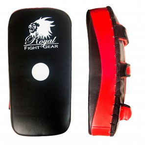Black/Red Artificial Leather Thai Pad