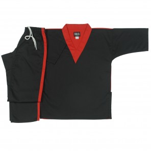 Style 212 Black/Red V-Neck Team Sets