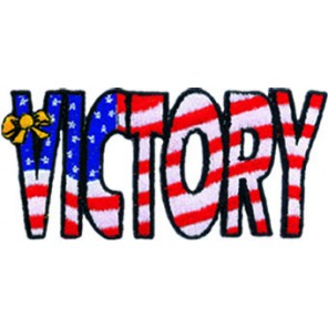Victory Usa Flag Patch