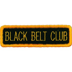 Black Belt Club Patch
