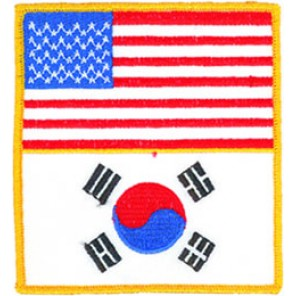 Usa/Korea Flags Patch