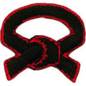Tiny Black/Red Belt Patch