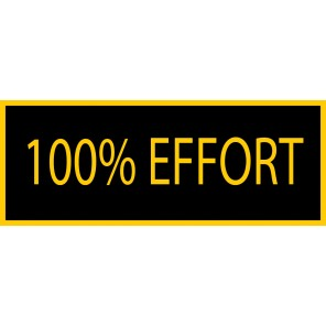 100% Effort Patch
