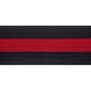 "2"" BLACK BELTS WITH STRIPE"