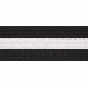 "2"" Black Belts With White Stripe"