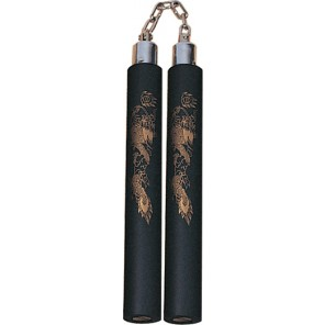 Black Foam Nunchaku With Chain