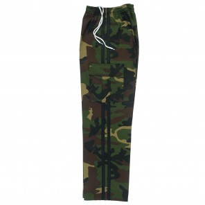 Green Camo Pants With Black Stripes