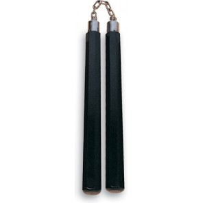 Black Octagon Nunchaku With Chain