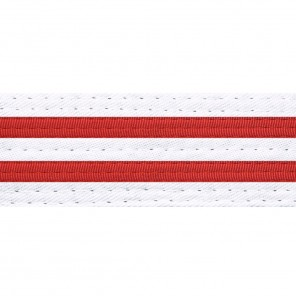 WHITE BELTS WITH DOUBLE STRIPES