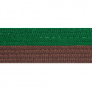 Half Green With Half Brown Belt Keychain