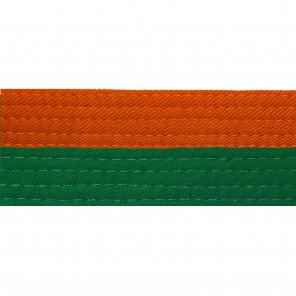 Half Orange With Half Green Belt Keychain