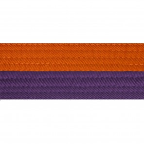 Half Orange With Half Purple Belt