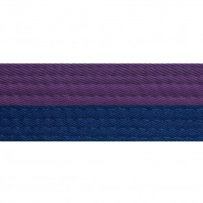 Half Purple With Half Blue Belt Keychain
