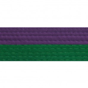 Half Purple Belts With Half Green