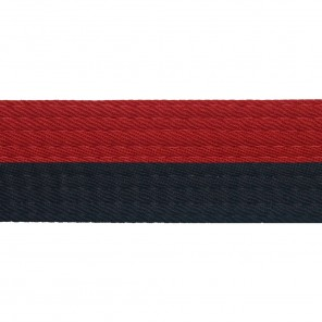 Half Red Belts With Half Black
