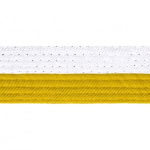 Half White Belts With Half Yellow