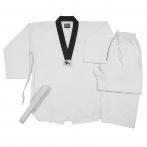 Ribbed TKD Set With Black Collar