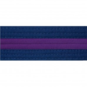 Blue Belts With Purple Stripe