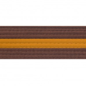 Brown Belts With Gold Stripe