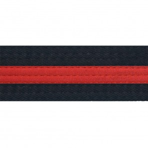 Black With Red Stripe Belt Keychain