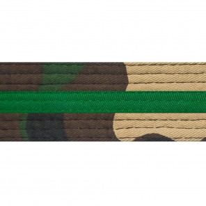 GREEN CAMO KEYCHAINS WITH STRIPE