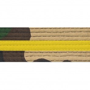 Green Camo With Yellow Stripe Belt Keychain