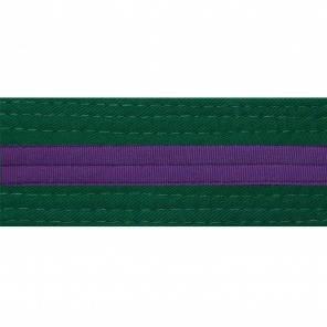 Forest Green Belts With Purple Stripe