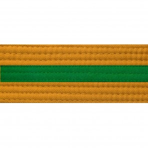 Gold Belts With Green Stripe