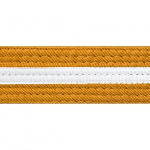 Gold Belts With White Stripe