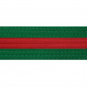 Green Belts With Red Stripe