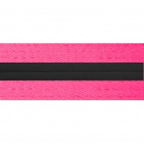 Neon Pink Belts With Black Stripe