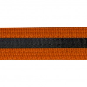 Orange With Black Stripe Belt Keychain