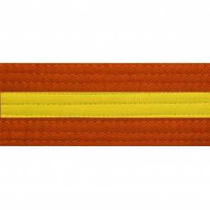 Orange Belts With Yellow Stripe