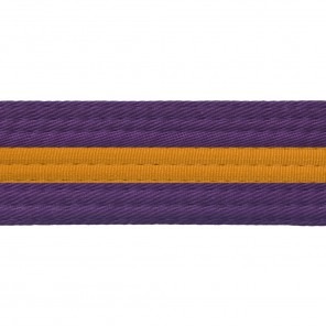 Purple Belts With Gold Stripe