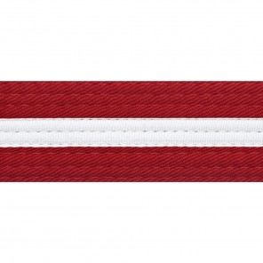 Red With White Stripe Belt Keychain