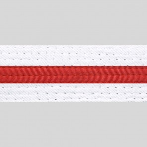 WHITE BELTS WITH STRIPE