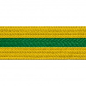 Yellow Belts With Green Stripe