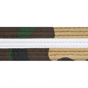 Green Camo Belts With White Stripe
