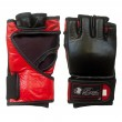 Black/Red Leather Fight Gloves